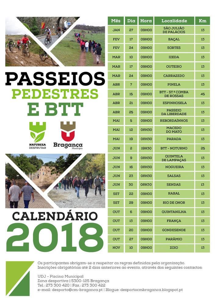 passeios pedestres e btt 2018