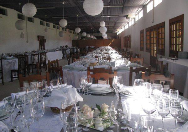 Decoração Mesas Sala de Festas