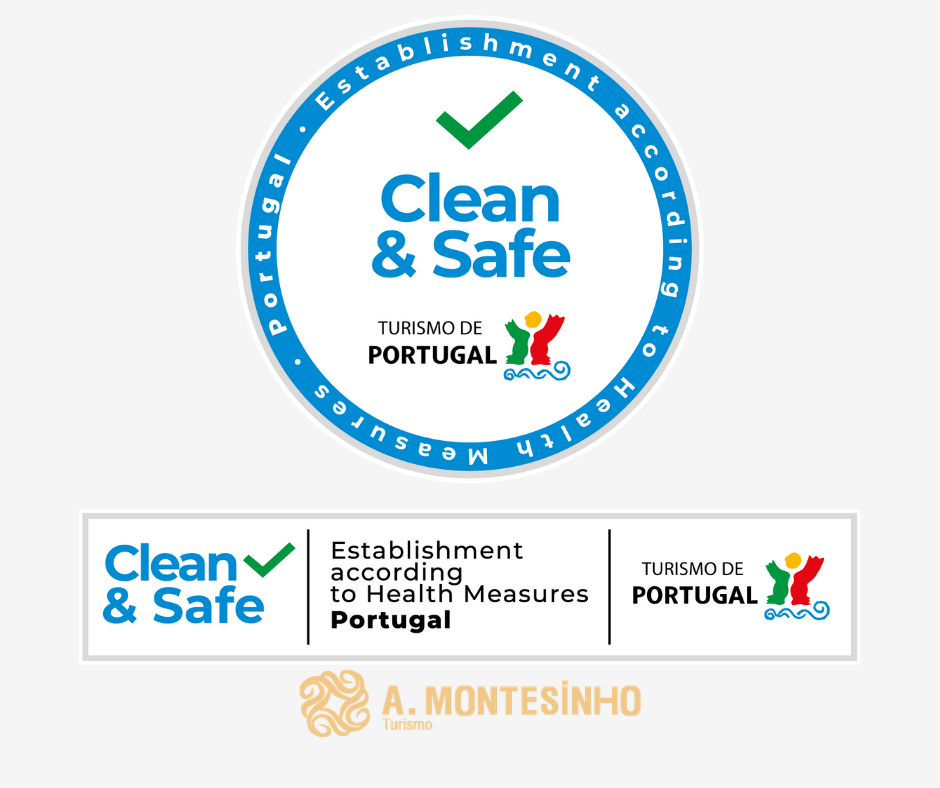 selo Clean & Safe do Turismo de Portugal.